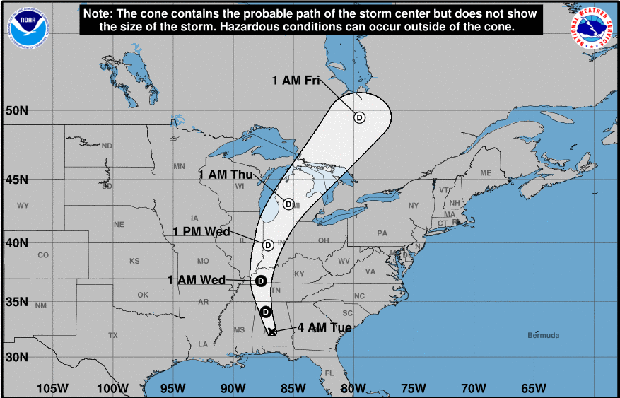 Tropical Storm Alberto Weakens to Subtropical Depression