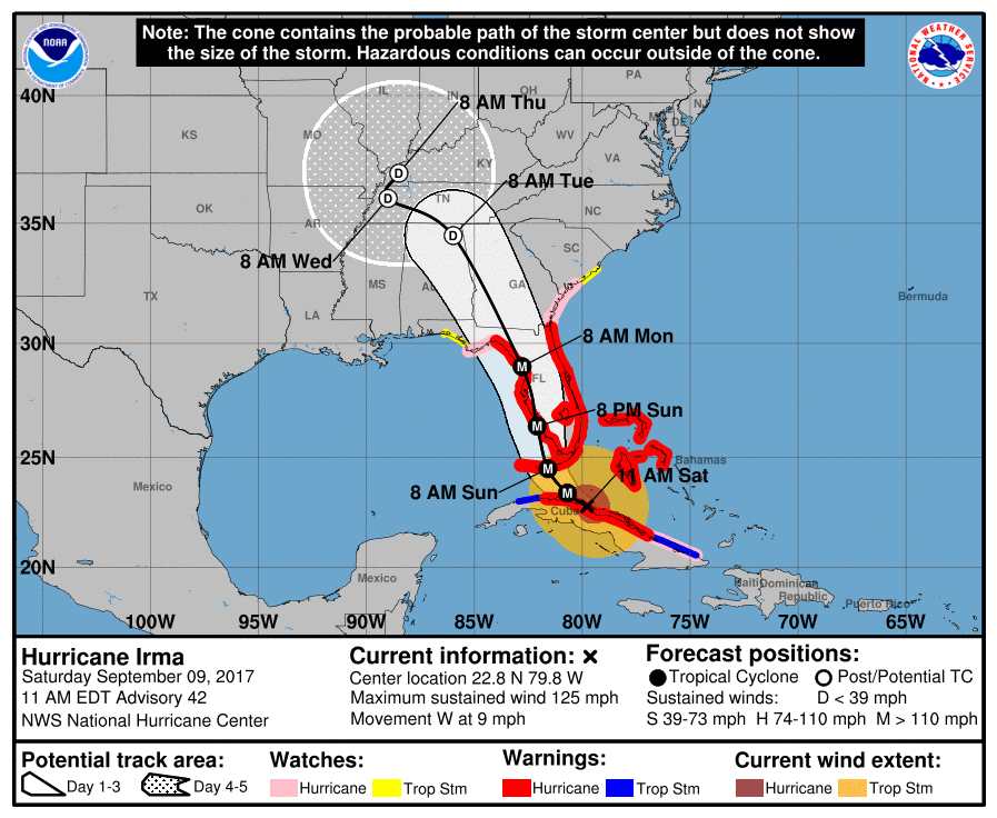 Hurricane Irma Makes Its Presence Known in Florida