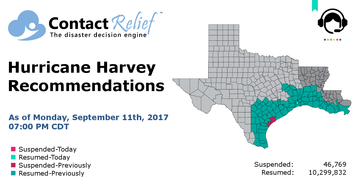 ContactRelief Hurricane Harvey Recommendations For Contact Centers