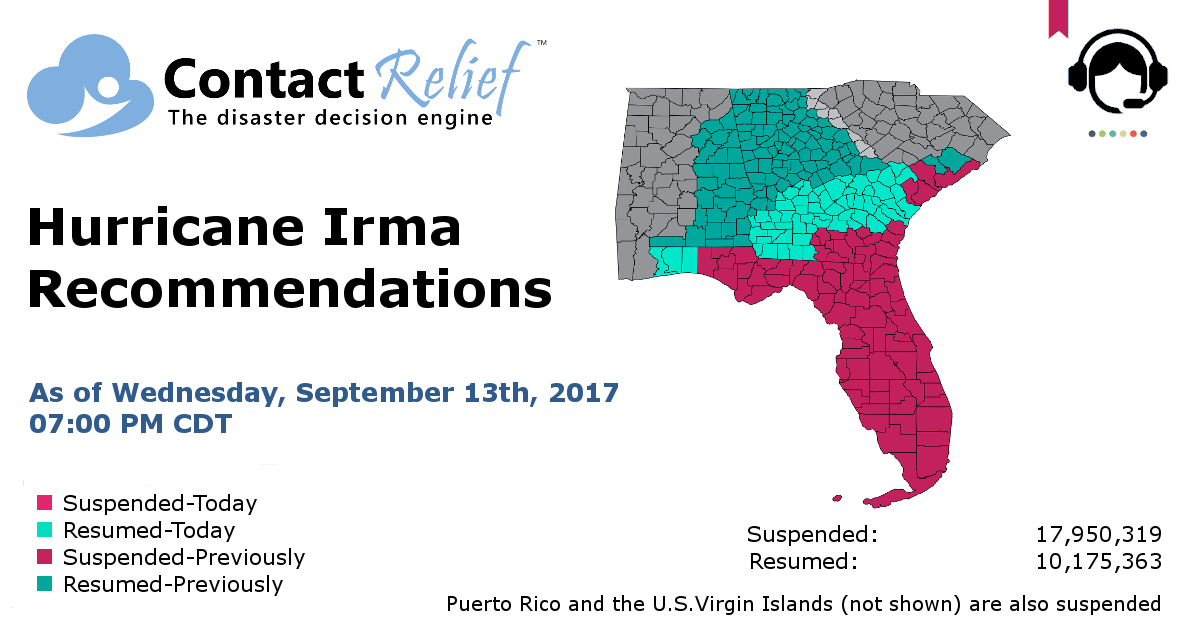 ContactRelief Hurricane Irma Recommendations For Contact Centers