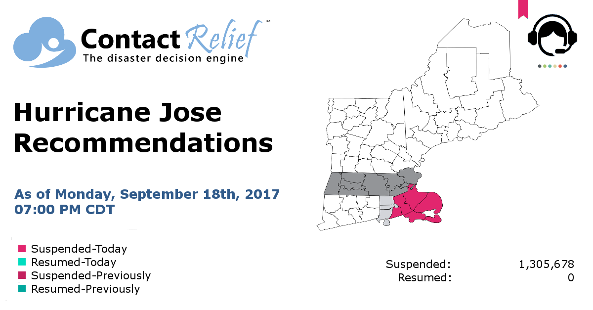 ContactRelief Hurricane Jose Recommendations for Contact Centers