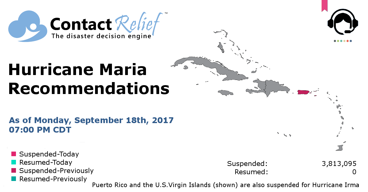 ContactRelief Hurricane Maria Recommendations for Contact Centers