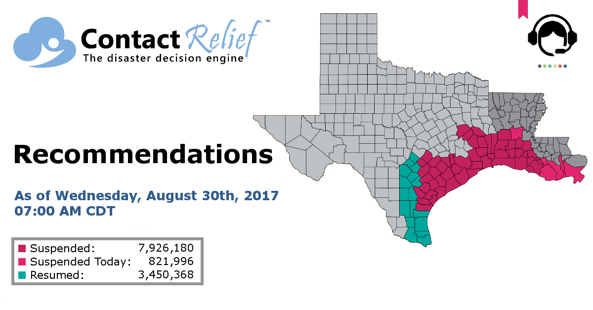 ContactRelief Recommends Contact Suspension for Additional Parts of Louisiana