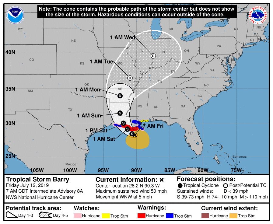 Tropical Storm Barry May Not Become a Hurricane