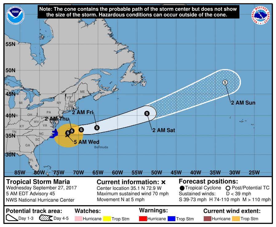 Hurricane Maria still affecting coastal North Carolina