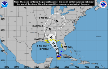 Tropical Storm Alberto Moves into Gulf of Mexico