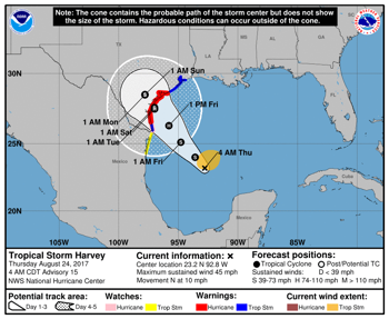 ContactRelief Recommends Contact Suspension for Tropical Storm Harvey