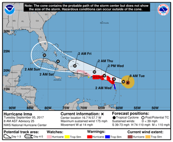 Category 5 Hurricane Irma Threatens Florida