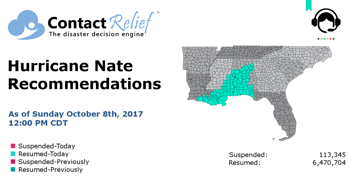 Hurricane Nate Recommendations for Contact Centers