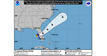 State of Emergency Declared for Tropical Storm Emily