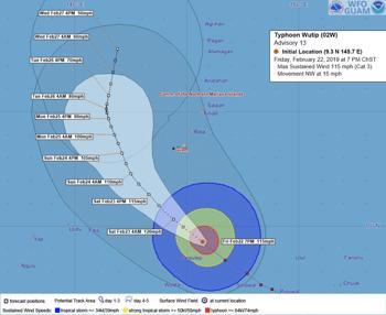 Major Typhoon Wutip Threatens Guam