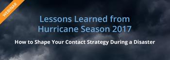 2017 Hurricane Lessons Learned Webinar - Watch Now