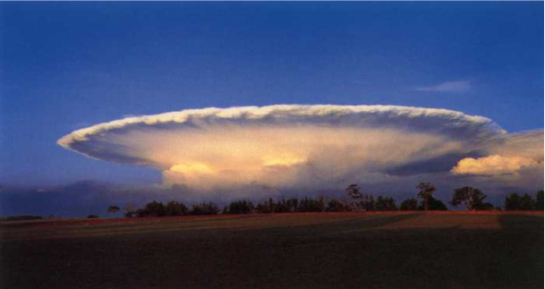 A map showing the <strong>Figure 3.</strong> A magnificent example of an isolated supercell thunderstorm. (courtesy:  Jan Null)