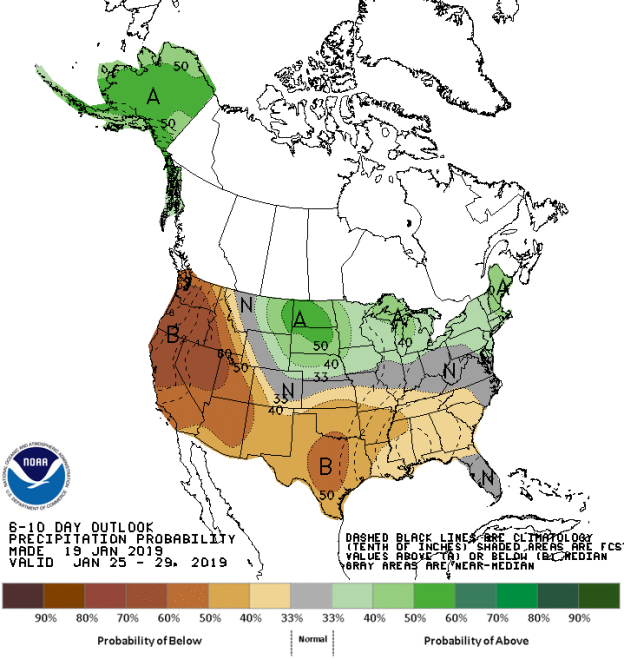 Figure 6: 6-10 Day Precipitation Outlook (Courtesy: Climate Prediction Center)
