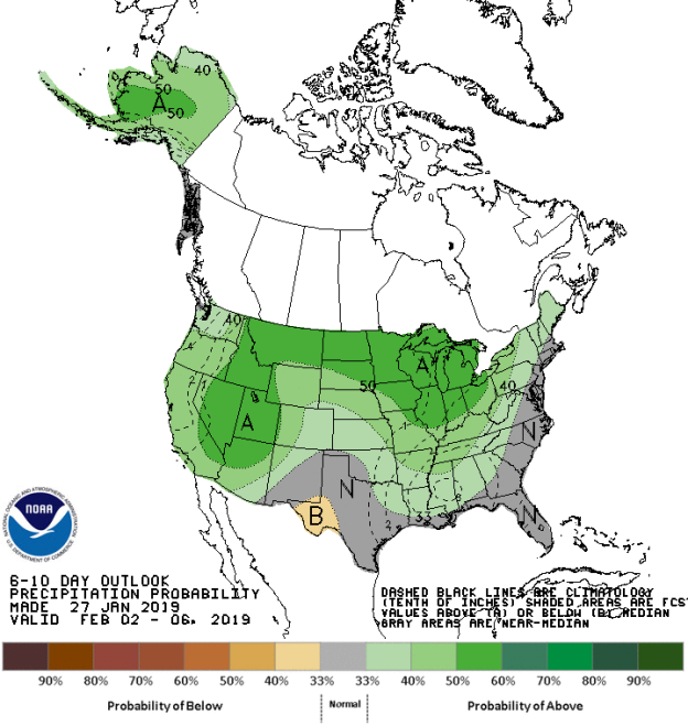 Figure 10: 6-10 Day Precipitation Outlook (Courtesy: Climate Prediction Center)