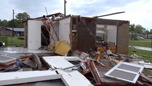 Figure 1: A home decimated by the tornado that struck Franklin, Texas, on Saturday, April 13, 2019. (Courtesy: Robert Pack/LSM)