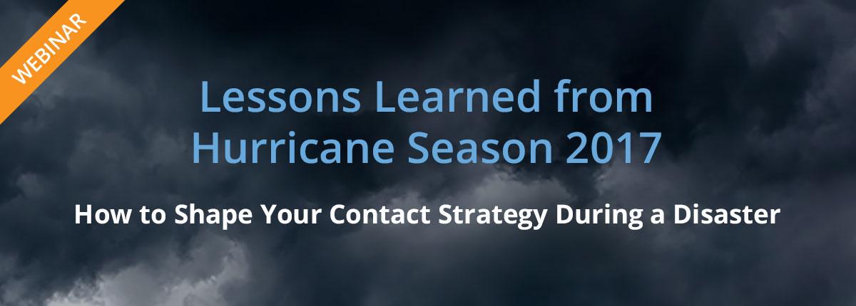 2017 Hurricane Lessons Learned Webinar - Watch Now